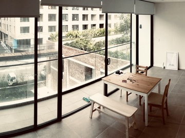 Renting out with online payment: View of an interesting bridge from a residential living room