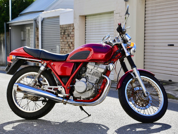 Renting out with online payment: Original Cafe Racer Motorbike - 1987 Honda GB250