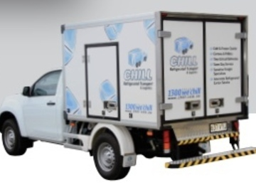 Renting out with online payment: Isuzu refrigerated ute