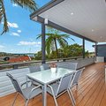 Renting out with online payment: Deck with manicured garden and ocean vista