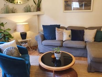 Renting out with online payment: Comfy Lounge Area with Indoor Plants at the Corner