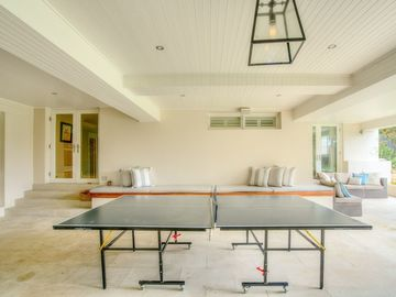 Renting out with online payment: Recreation Room with Ping Pong Table and Seating Area
