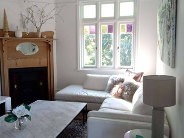 Renting out with online payment: Federation House Living Room with Garden View from the Window