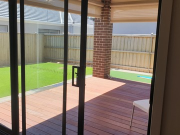 Renting out with online payment: Beautiful Alfresco with blinds opening into lush green backyard