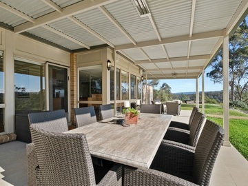 Renting out with online payment: Enormous Pergola Area with Lounge and Dining Settings