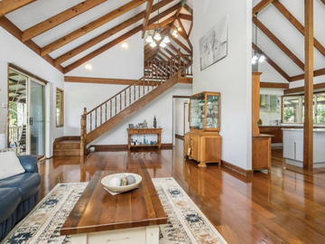 Renting out with online payment: Spacious Living Area with High Timber Ceiling
