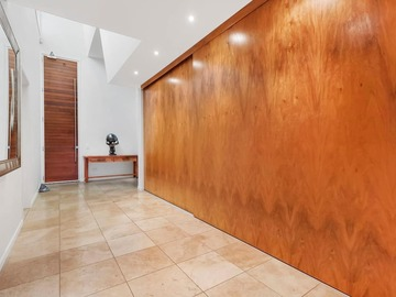 Renting out with online payment: Main Entrance with Large Wooden Slabs