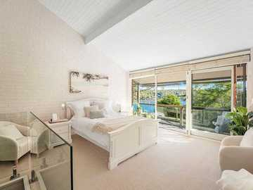 Renting out with online payment: Master Bedroom with Access to the Balcony with Pittwater Views