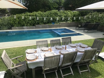 Renting out with online payment: Large Family backyard, pool and spa